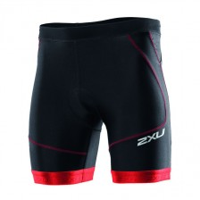 2XU Perform triathlon short 7inch zwart-rood