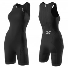 2XU Comp Trisuit Dames Rear Zip Black/Black