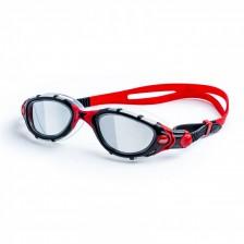 Zoggs Predator Flex zwembril spiegellens zwart-rood