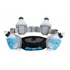 Run & Move Belt TRAIL 3.0 grijs-zwart-blauw hardloopriem